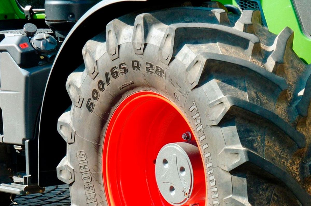 Vulcanizado de ruedas de tractor