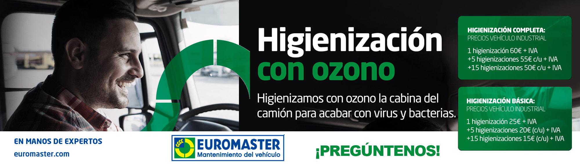 Higienización con ozono